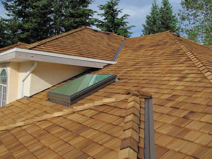 Cedar roof repairs